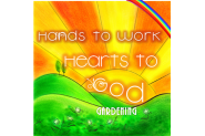 Hand to Work Hearts to God Gardening Logo
