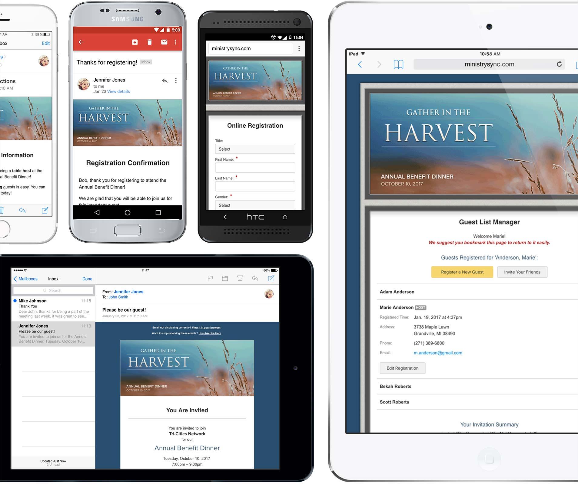 Mobile Friendly Registration Screenshot