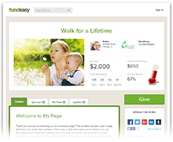 Example FundEasy Page Thumbnail
